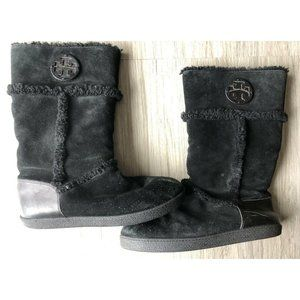 TORY BURCH Nadine Suede Shearling Mid Boots Sz 10